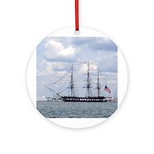 USS Constitution Ornament (Round)