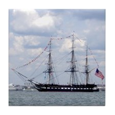 USS Constitution Tile Coaster