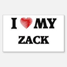 I love my Zack Decal