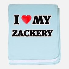 I love my Zackery baby blanket