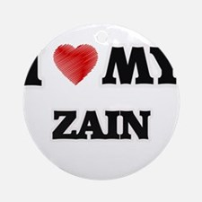 I love my Zain Round Ornament