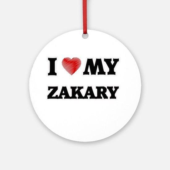 I love my Zakary Round Ornament