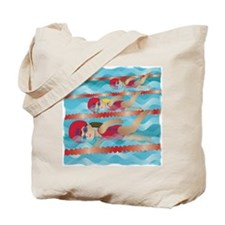 Little Swimmer Girls Tote Bag