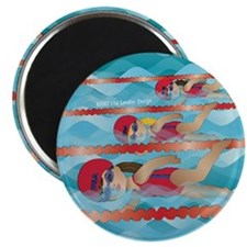 Little Swimmer Girls Magnet