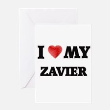 I love my Zavier Greeting Cards