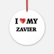 I love my Zavier Round Ornament