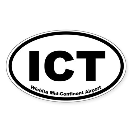 Wichita Mid-Continent Airport Oval Sticker