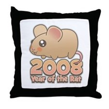 Cute 2008 Year Rat Throw Pillow
