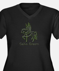 Celtic Dream Women's Plus Size V-Neck Dark T-Shirt