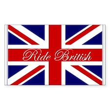 Ride British Rectangle Decal