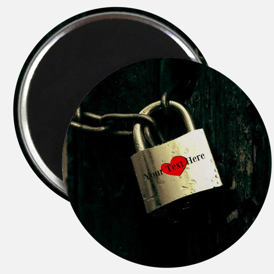 Personalized - Love Lock * Magnets