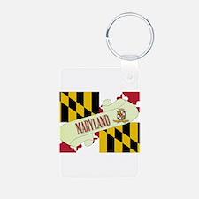 Maryland Scroll Keychains