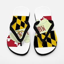 Maryland Scroll Flip Flops