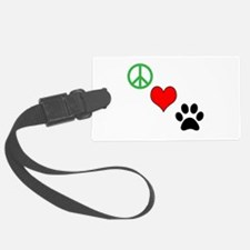 Peace, Love, Paws Luggage Tag
