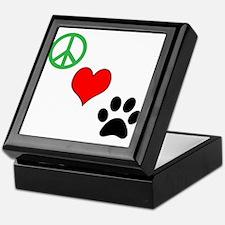 Peace, Love, Paws Keepsake Box