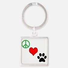 Peace, Love, Paws Keychains