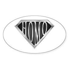 SuperHomo(metal) Oval Decal