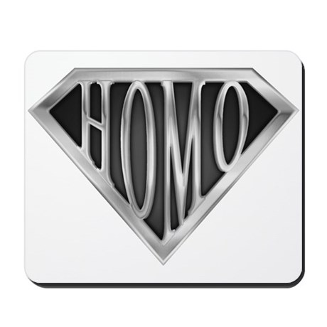 SuperHomo(metal) Mousepad