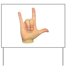 ASL I Love You Yard Sign