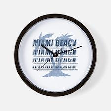 Cute Miami beach souvenir Wall Clock