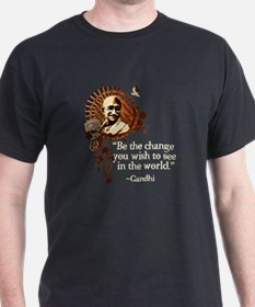 Funky Gandhi-Be the change... T-Shirt