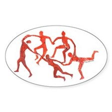 Heart Dance Oval Decal