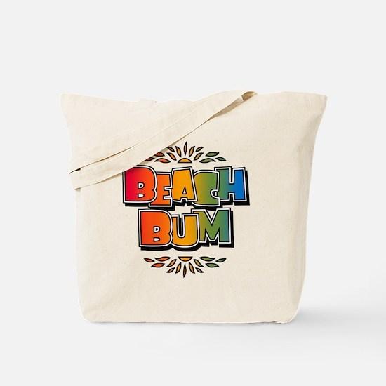 Beach Bum Retro Rainbow Tote Bag