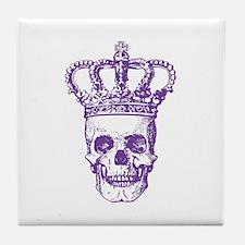 Crowned Skull (purple) Tile Coaster