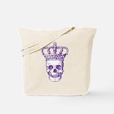 Crowned Skull (purple) Tote Bag