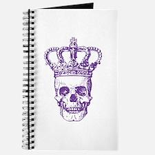 Crowned Skull (purple) Journal