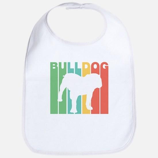 Retro Bulldog Silhouette Bib