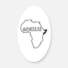 Unique Somalia Oval Car Magnet