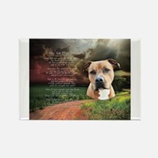 """Why God Made Dogs"" AmStaff Magnets"