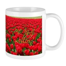 Unique Red flower Mug