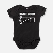 I hate your face music scale Baby Bodysuit