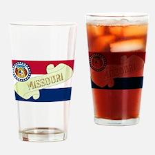 Missouri Scroll Drinking Glass