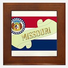 Missouri Scroll Framed Tile
