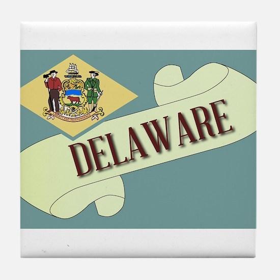 Delaware Scroll Tile Coaster