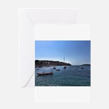 Boats In Dubrovnik - Croatia Greeting Cards