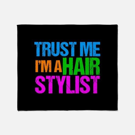 Hair Stylist Throw Blanket