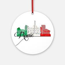 Rome Italy Round Ornament