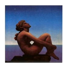 Tile Coaster - Stars by Maxfield Parrish