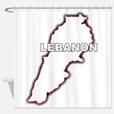 Outline Map of Lebanon Shower Curtain
