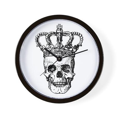Crowned Skull (black) Wall Clock