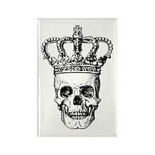 Crowned Skull (black) Rectangle Magnet
