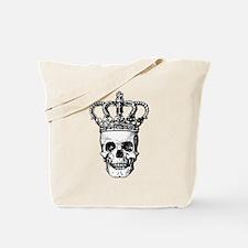 Crowned Skull (black) Tote Bag