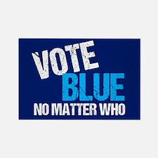 Vote Blue Democrat Rectangle Magnet
