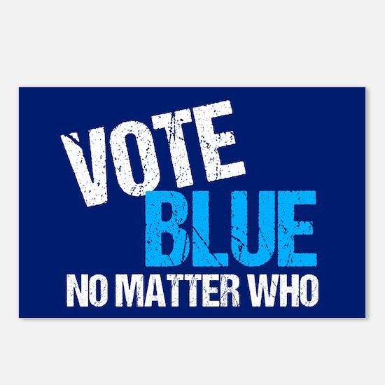 Vote Blue Democrat Postcards (Package of 8)