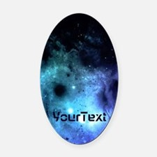 Personalized Galaxy * Oval Car Magnet