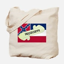 Mississippi Scroll Tote Bag
